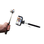 Denver SAX-10BLACK selfie stick Smartphone Black,Stainless steel