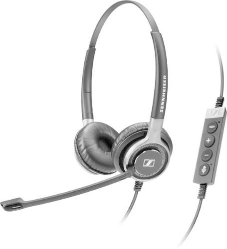 Sennheiser SC 660 USB CTRL Binaural Head-band Black,Silver