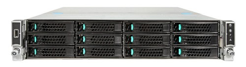 Intel R2312WTTYSR Intel C612 LGA 2011-v3 2U Black, Metallic server barebone