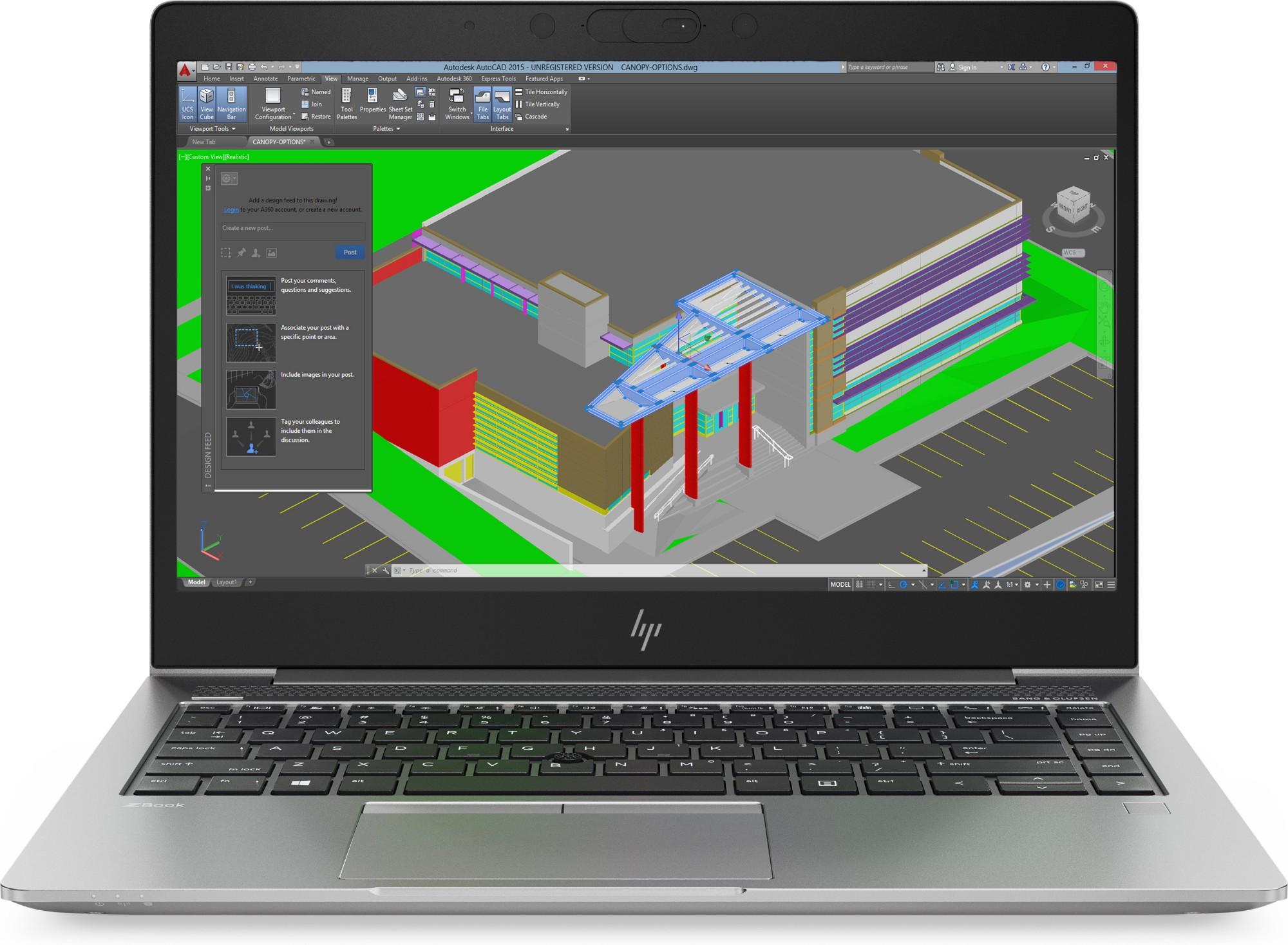 HP ZBook 14u G5 1.80GHz i7-8550U 8th gen Intel® Core™ i7 14