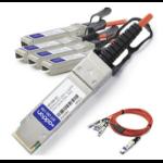 "AddOn Networks 15m QSFP+ - 4xSFP+ InfiniBand cable 590.6"" (15 m) QSFP+ 4xSFP+ Orange"