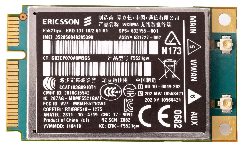 HP hs2340 HSPA+ Mini Card cellular wireless network equipment