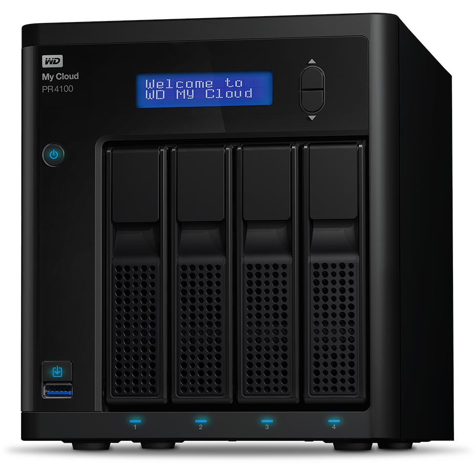 Western Digital PR4100 Ethernet LAN Desktop Black NAS