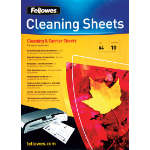 Fellowes Cleaning Sheets A4, 10 pcs. A4 10pc(s) lamination film