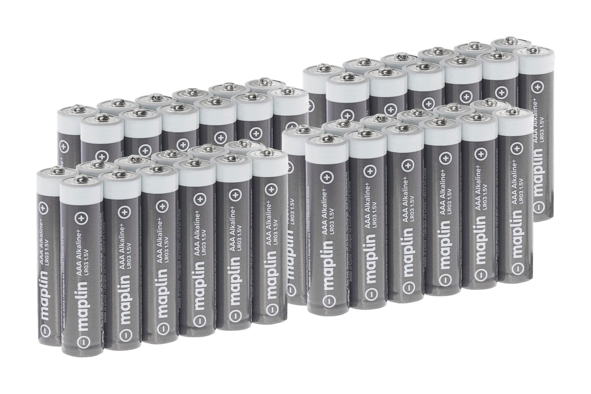 MAPLIN Extra Long Life High Performance Alkaline AAA Batteries - Pack of 48 (4 x 12)