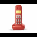 Gigaset A170 Teléfono DECT Rojo Identificador de llamadas