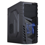 CIT Defender Black Interior 500W 12cm Black Psu 12cm Blue LED Fan
