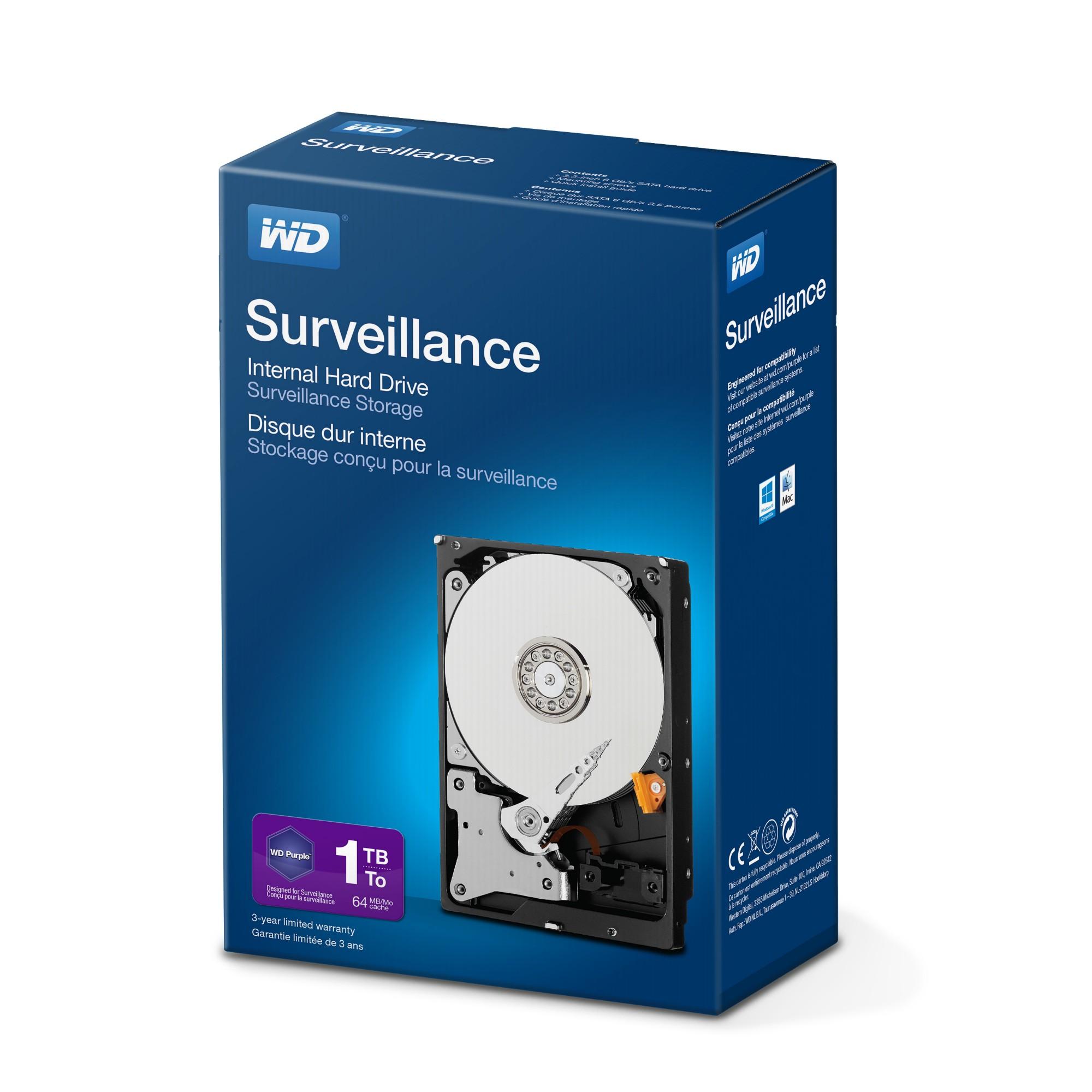 Western Digital Surveillance Storage 1000GB Serial ATA III internal hard drive