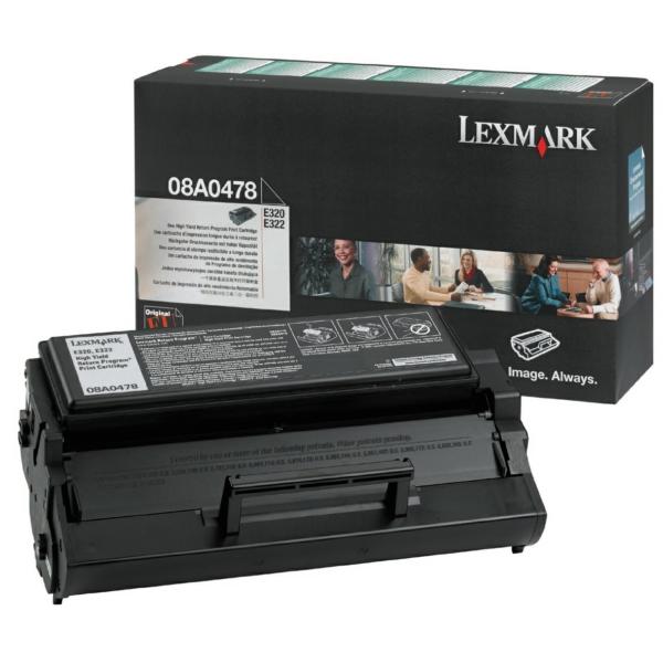 Lexmark 8A0478 Toner black, 6K pages