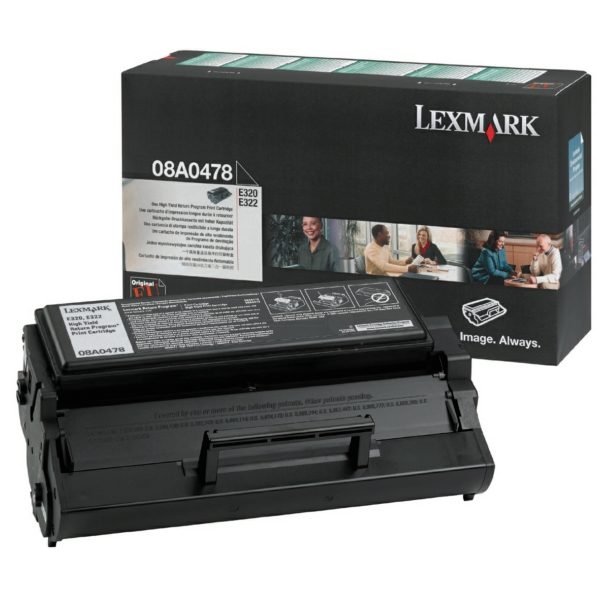 Lexmark 8A0478 Toner black, 6K pages