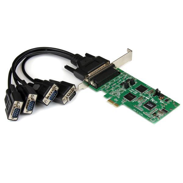 StarTech.com Tarjeta Adaptadora PCI Express PCIe de 4 Puertos Serie Serial Combo RS232 y RS485 RS 422 DB9