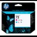 HP Cabezal de impresión 72 magenta y cian