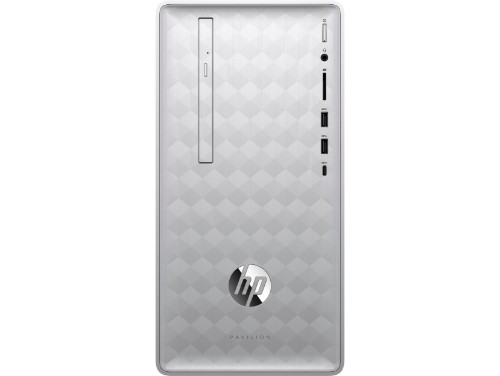 HP Pavilion 590-p0026na 3.6 GHz 8th gen Intel® Core™ i3 i3-8100 Silver Mini Tower PC