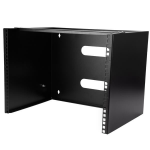 StarTech.com Wall-Mount Bracket for Shallow Rack-Mount Equipment - Solid Steel - 8U