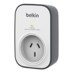 Belkin SurgeCube Silver, White 1 AC outlet(s)