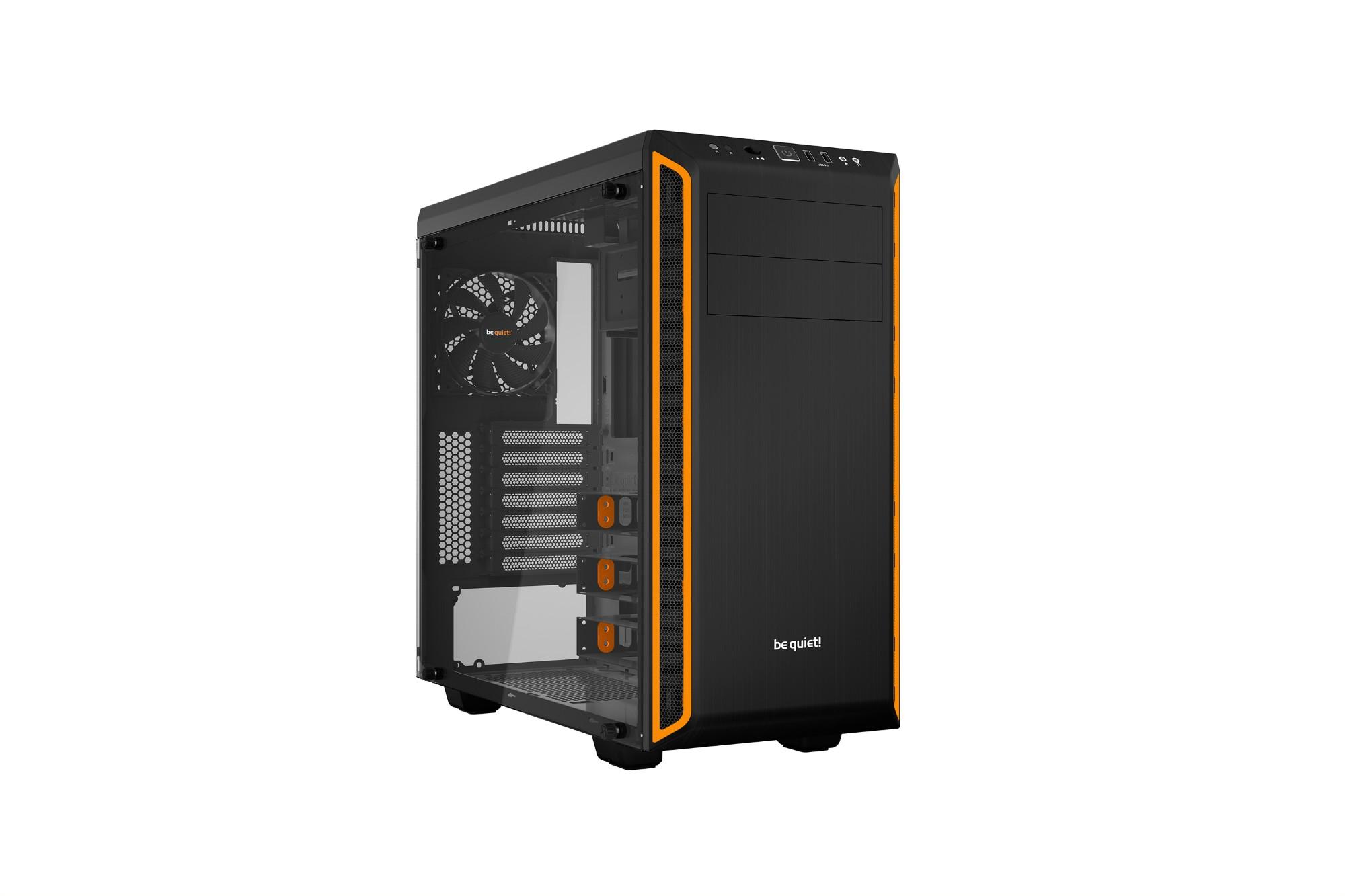 be quiet! Pure Base 600 Window Midi-Tower Black,Orange computer case