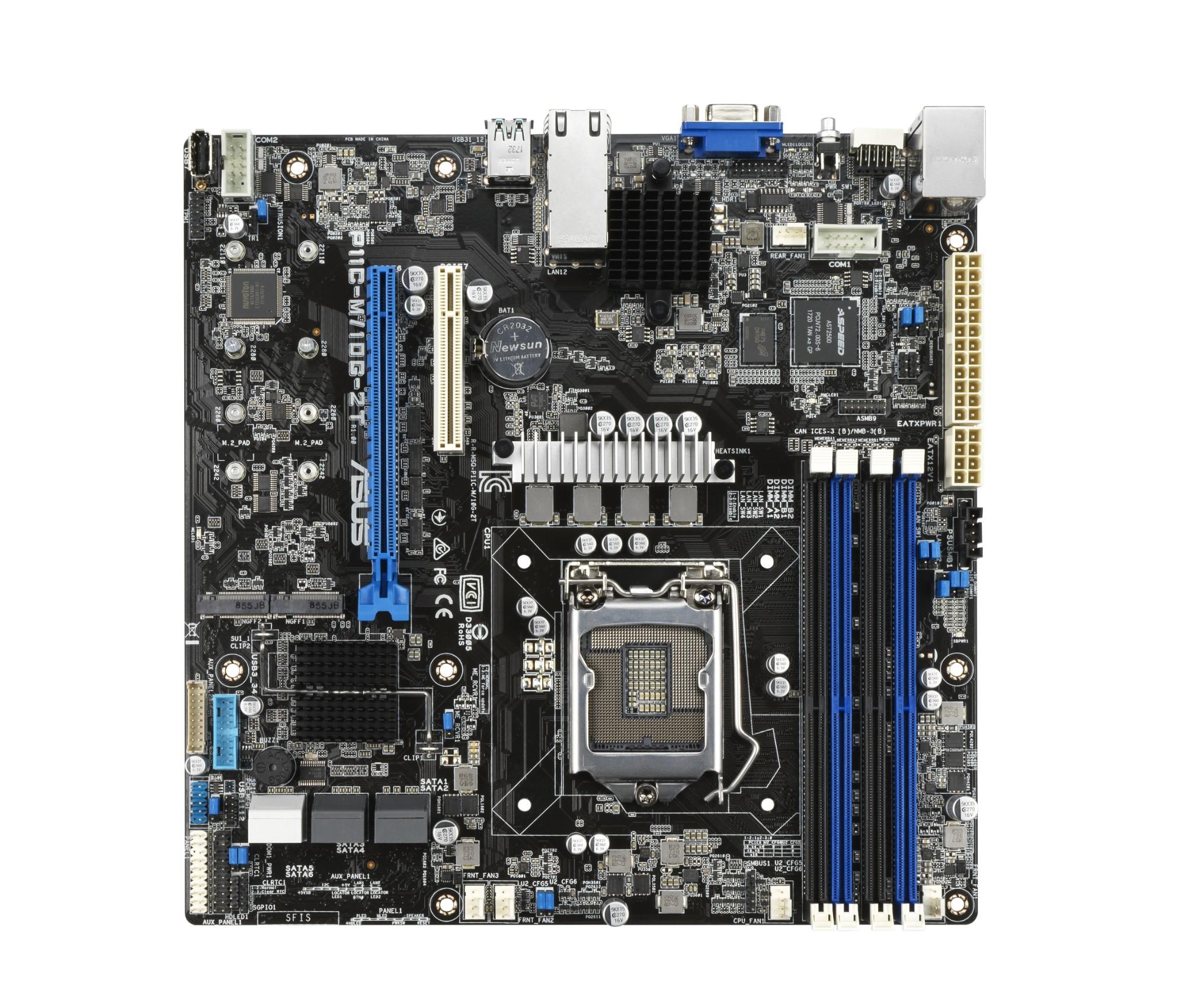 ASUS P11C-M/10G-2T server/workstation motherboard Intel C242 LGA 1151 (Socket H4) Mini-ITX
