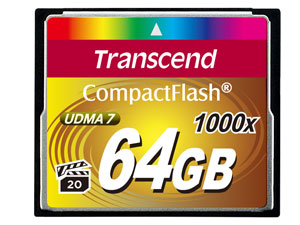 64GB Compactflash Card 1000x Up To Writespeed 160mb/s And Writespeed Up To 120mb/s