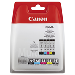 Canon 0372C004 (570 571) Ink cartridge multi pack, 15ml + 4x7ml, Pack qty 5