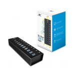 VANTEC 10 Port USB 3.0 Aluminium Hub 12V/5A/60W Premium Power Adapter