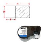 Brady M-75-461 printer label Transparent, White Self-adhesive printer label