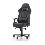 DXRacer KS57 Series Gaming Chair, Neck/Lumbar Support - Black & Carbon Grey