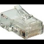 Microconnect KON520-50B wire connector RJ45 MP8P8C Transparent