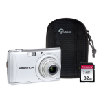 Praktica Luxmedia Z250 Silver Camera Kit inc 32GB SDHC Class 10 Card & Case