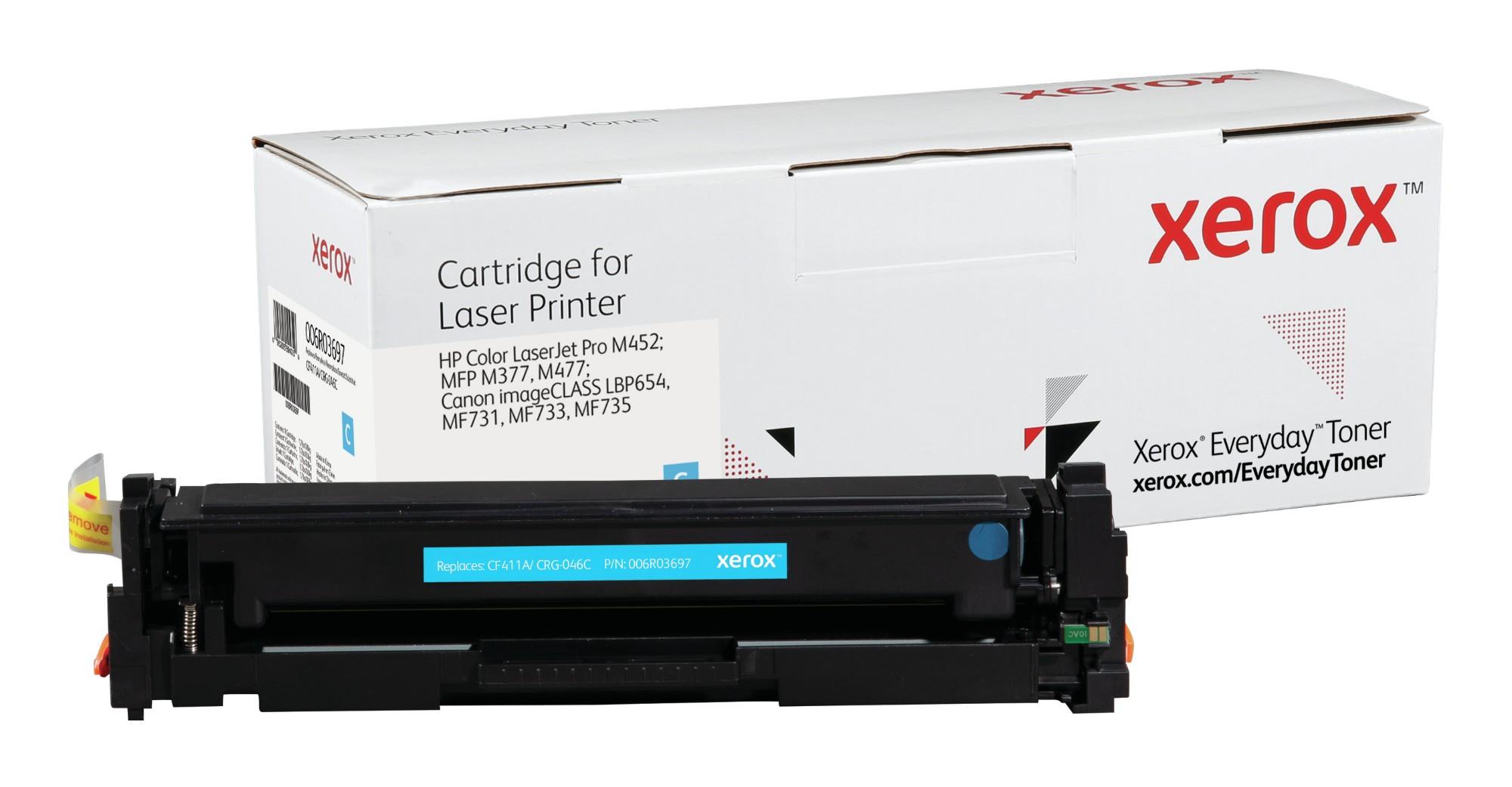 Xerox Tóner de Rendimiento estándar Cian Everyday, HP CF411A/ CRG-046C equivalente de , 2300 páginas
