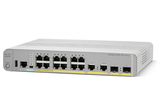 Cisco WS-C3560CX-12PD-S Managed Gigabit Ethernet (10/100/1000) Power over Ethernet (PoE) White network switch