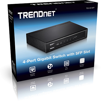 Trendnet TEG-S51SFP Gigabit Ethernet (10/100/1000) Black network switch