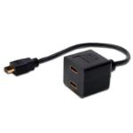 FDL 15cm HDMI/A PLUG TO 2 x HDMI/A SOCKET SPLITTER CABLE