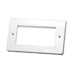 Cablenet Double Gang MK Style White Faceplate