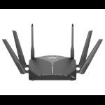 D-Link DIR-3060 draadloze router Tri-band (2.4 GHz / 5 GHz / 5 GHz) Gigabit Ethernet Zwart