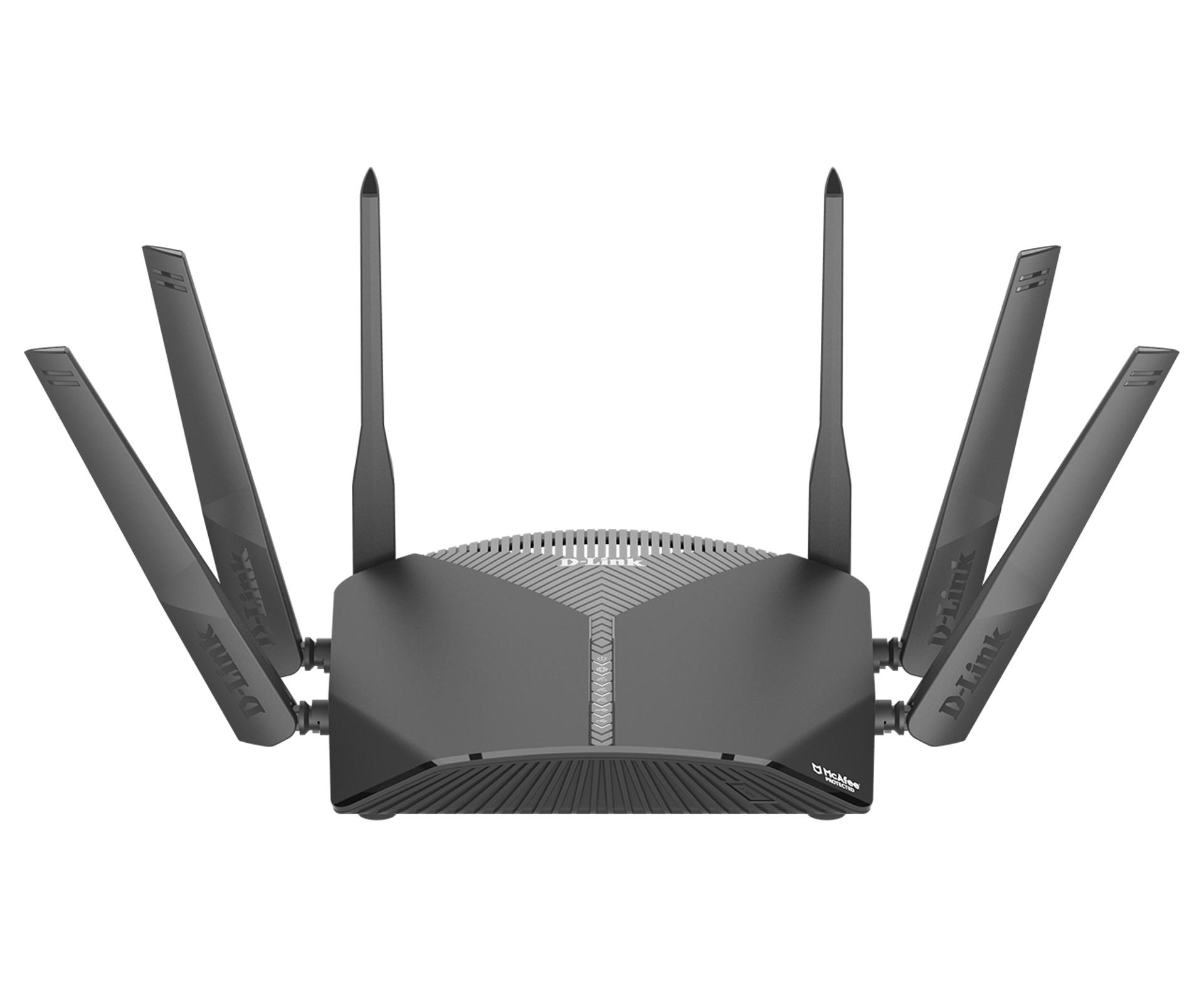 D-Link DIR-3060 router inalámbrico Tribanda (2,4 GHz/5 GHz/5 GHz) Gigabit Ethernet Negro