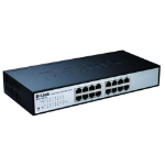 D-Link DES-1100-16 Managed network switch L2 Black network switch