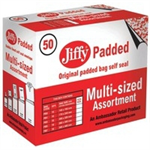 FSMISC JIFFY BAGS GOLD ASST PK50 JPB-SEL