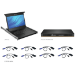 Vertiv LCD Local Rack Access Console, 8P KVM, 8 CABLES, USB KB-UK ENG