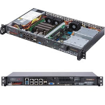 Supermicro SuperServer 5019D-FN8TP Rack (1U) Black