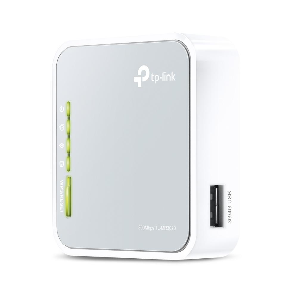TP-LINK TL-MR3020 V3 draadloze router Single-band (2.4 GHz) Fast Ethernet 3G 4G Grijs, Wit