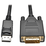 Tripp Lite DisplayPort 1.2 to DVI Active Adapter Cable, DP with Latches to DVI (M/M), 1920x1200/1080p, 1.83 m