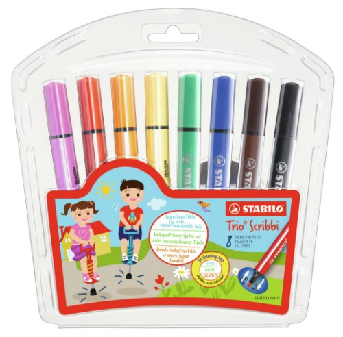 STABILO Trio Scribbi felt pen Bold Multicolor 8, 1