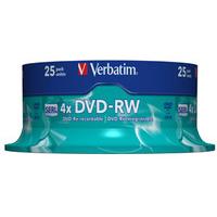 Verbatim DVD-RW Matt Silver 4.7GB DVD-RW 25pc(s)
