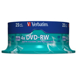 Verbatim DVD-RW Matt Silver 4.7 GB 25 pc(s) 43639