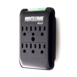 Minute Man MMS660S surge protector 6 AC outlet(s) 120 V Black