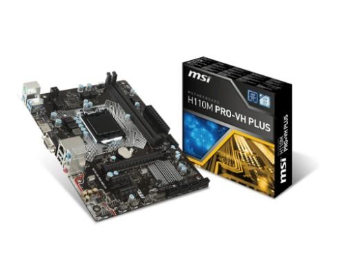 MSI H110M PRO-VH PLUS motherboard LGA 1151 (Socket H4) Intel® H110 Micro ATX
