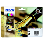 Epson C13T16264022 (16) Ink cartridge multi pack, 175pg + 3x165pg, 1x5.4ml + 3x3.1ml, Pack qty 4