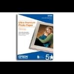 "Epson Ultra Premium Glossy 8.5"" x 11"" photo paper"