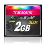 Transcend 2GB 300x CompactFlash memory card