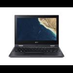 "Acer TravelMate Spin B1 TMB118-G2-RN-C5XK Hybrid (2-in-1) 11.6"" 1920 x 1080 pixels Touchscreen Intel® Celeron® 4 GB DDR4-SDRAM 64 GB Flash Wi-Fi 5 (802.11ac) Windows 10 Pro Education Black"